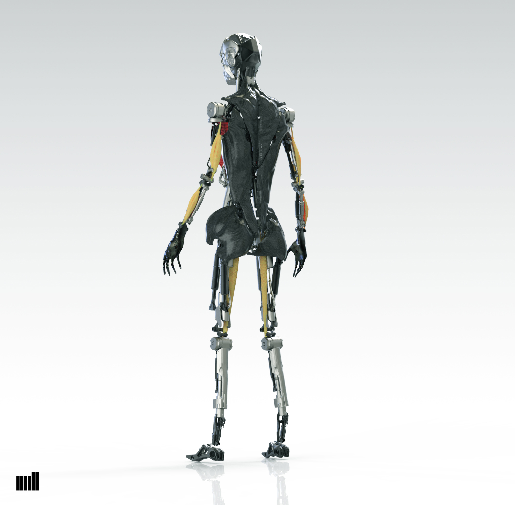 robot woman_back structure inside